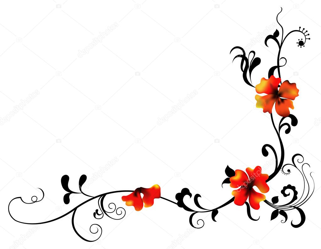 Red Flower And Vines Pattern Stock Photo 169 Realrocking