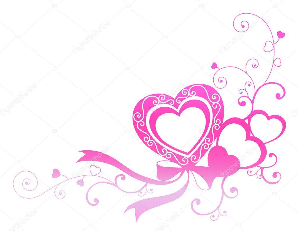 Coeur Rose Avec Ruban Photographie Realrocking 169 3465553