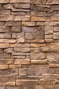 Wall of stone.