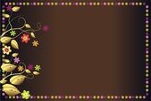 Brown background with colorful flowers