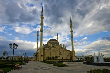 Heart Chechnya. Mosque in Grozny