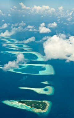 Aerial view on tropical islands