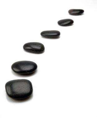 Black stepping stones