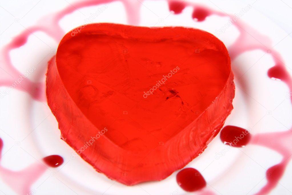 Red Heart Shaped Jello Stock Photo Teine26 3002510