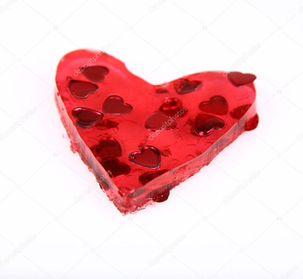 Red Heart Shaped Jello Stock Photo Teine26 3002641