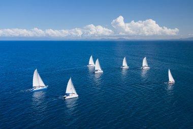 Regatta in indian ocean