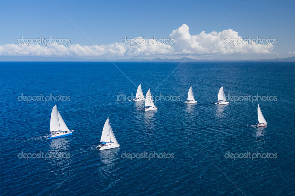 Regatta in indian ocean