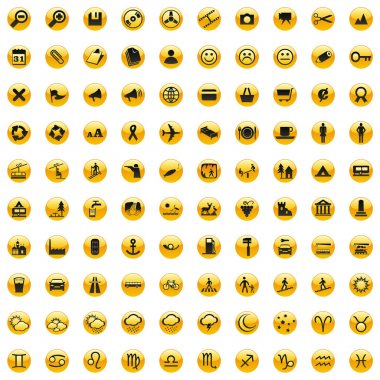 Vector web icons with details