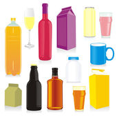 Fotografie Isolated drink containers