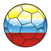 Venezuela flag on soccer ball