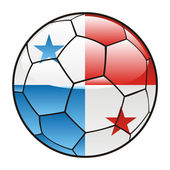 Panama flag on soccer ball
