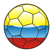 Colombia flag on soccer ball