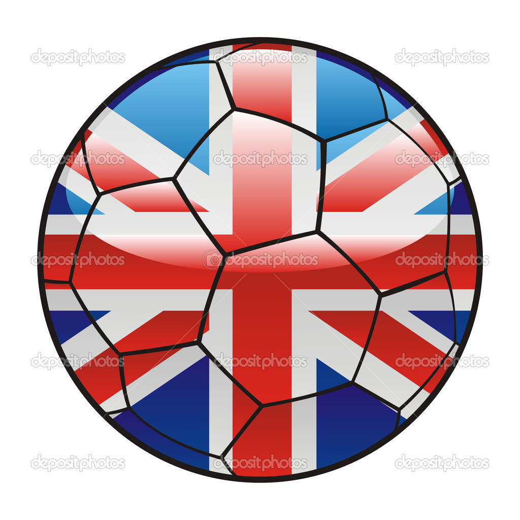 great britain flag on soccer ball u2014 stock vector pilgrimartworks