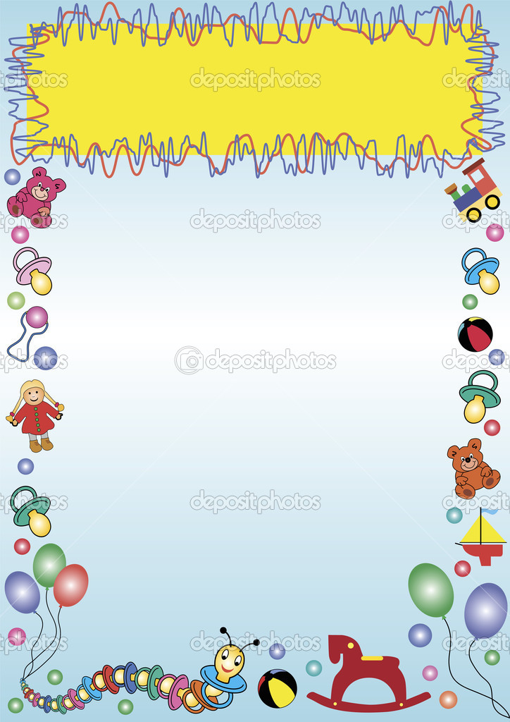 Border Out Of Baby Toys Stock Vector C Photovectorino 3048049
