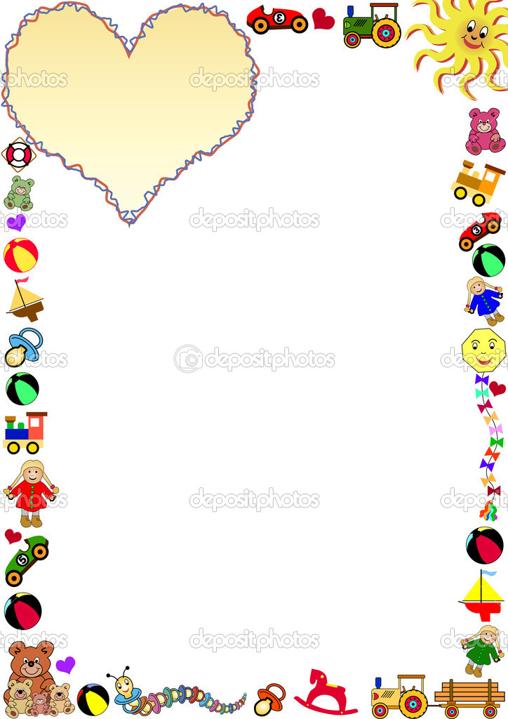 Toys Border Stock Vector C Photovectorino 3057682