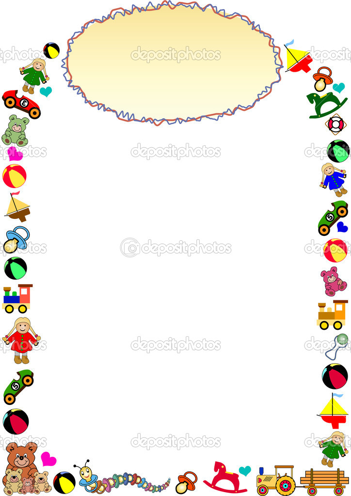 Toys Border Stock Vector C Photovectorino 3057691