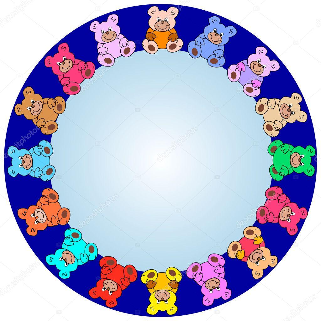 bordure ronde de nounours  u2014 image vectorielle photovectorino  u00a9  3150575