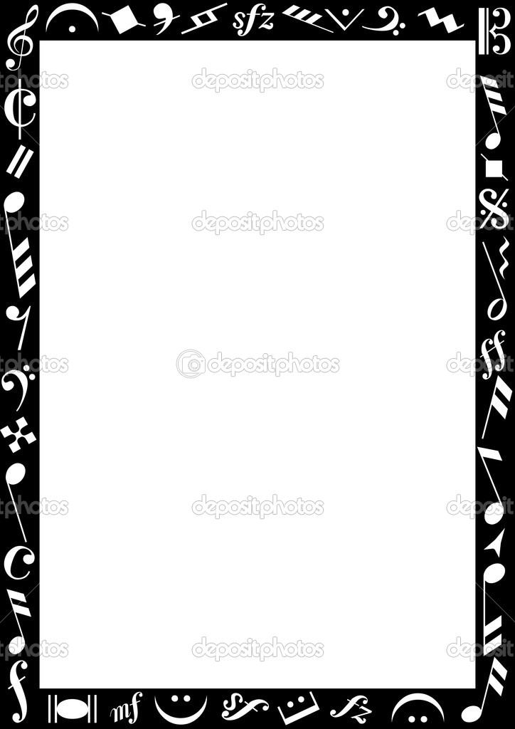 Black Border With Music Signs Stock Vector Photovectorino 3506273