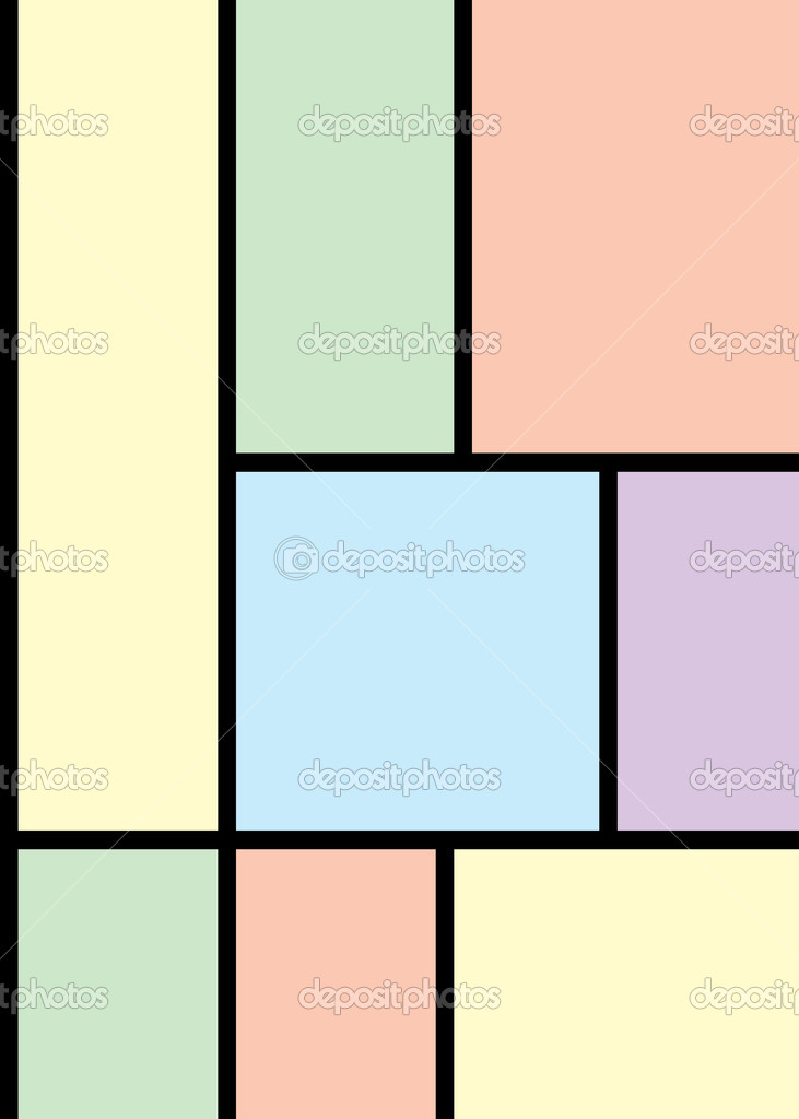 Pastel colored frames and black lines — Stock Vector ...