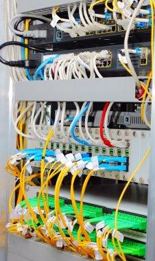 Fiber optic datacenter, media converters