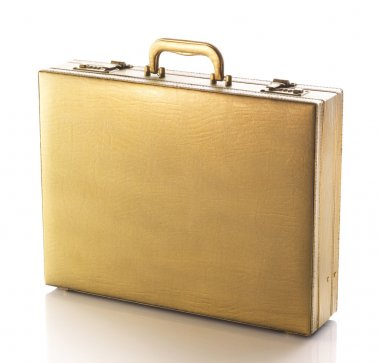 Gold business briefcase