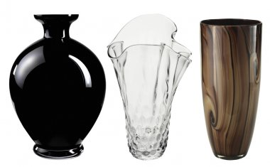 Beautiful Art Deco Vase isolated on white + Clipping Path.