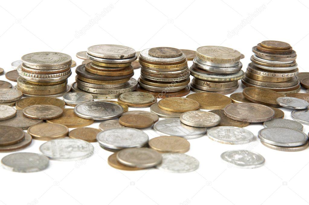 Alte Münzen Verschiedener Länder Stockfoto Scratch 3561059