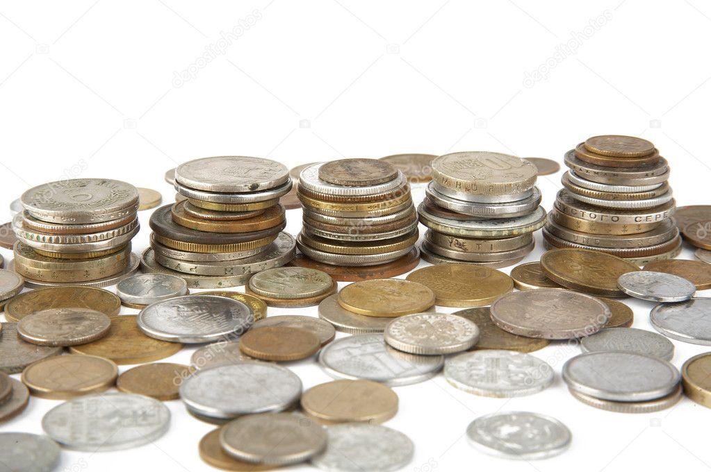 Alte Münzen Verschiedener Länder Stockfoto Scratch 3561061