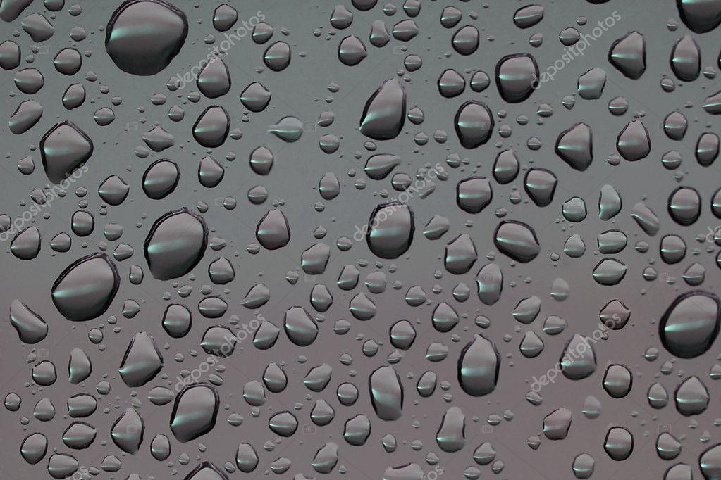 Water drops on glass window.