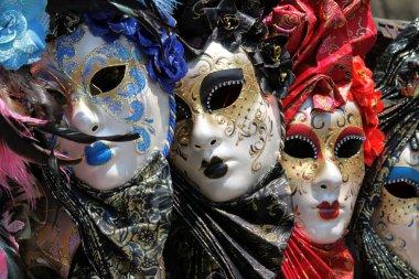 Row of venetian masks