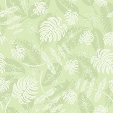 Seamless tropical leafs pattern