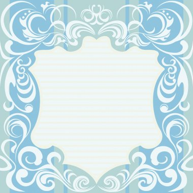 Abstract Floral Decoration Frame