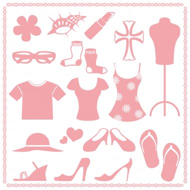 Women fashion icon sets