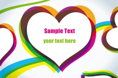 Abstract love colorful heart Background