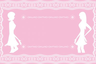 Abstract pink women background