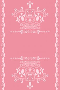 Abstract pink crown background.