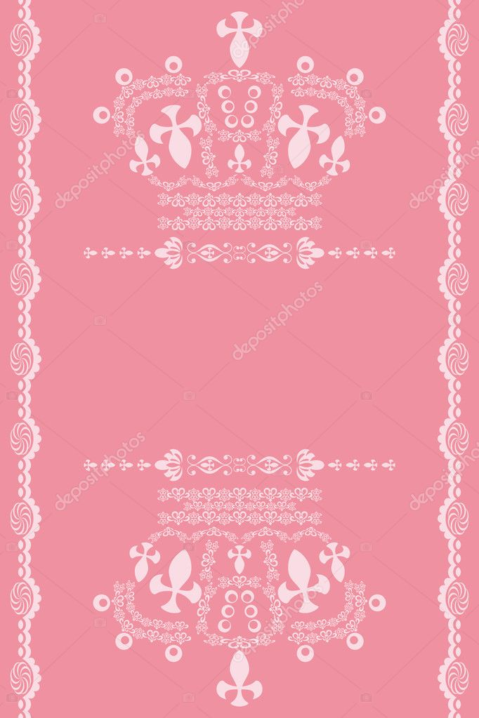 Abstract Pink Crown Background Stock Vector C Yo Ichi 3557334