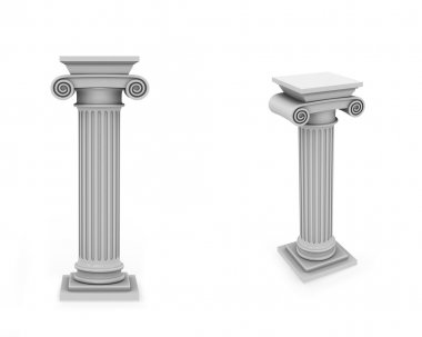 Marble columns frontal and diagonal