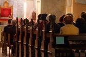 in church
