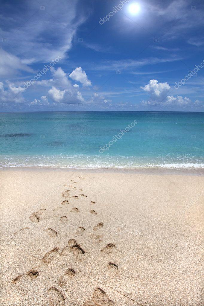 Beach and footprint