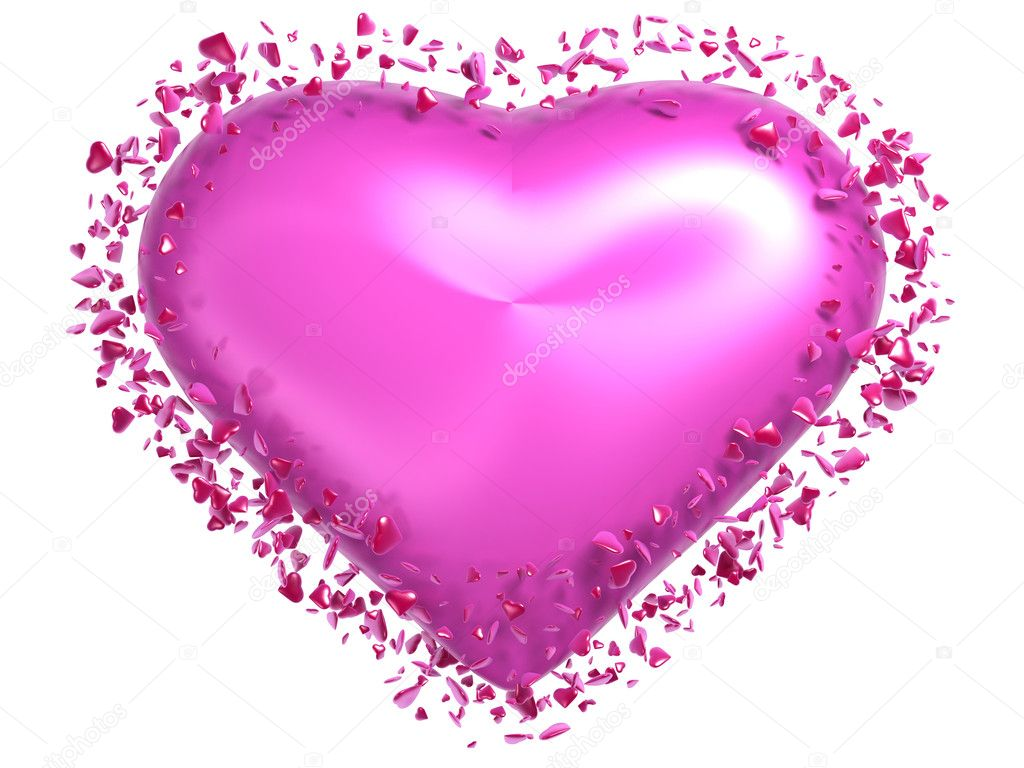 Un Corazón De Color Rosa Foto De Stock Lokomotiv 3237681