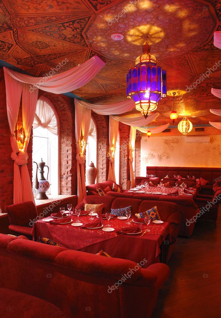 Interior Of A Restaurant In Red Color Stock Photo C Photosphobos 3181066