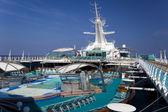 Top deck of cruise ship