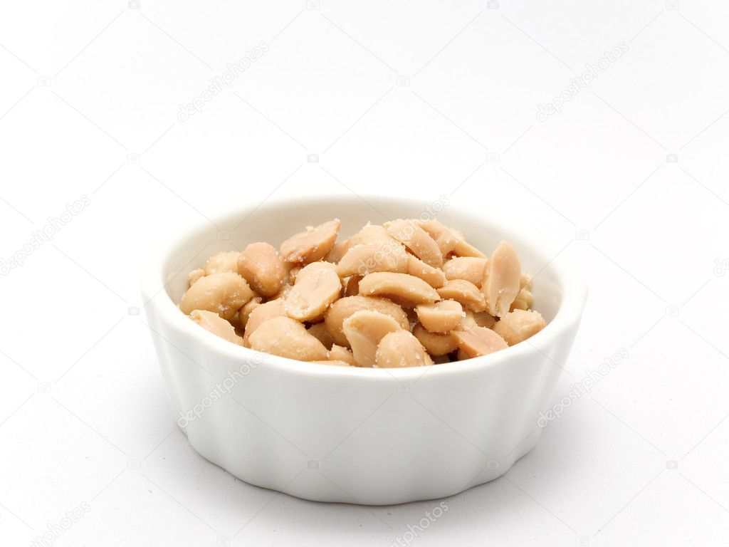 Peeled And Salted Peanuts Stock Photo