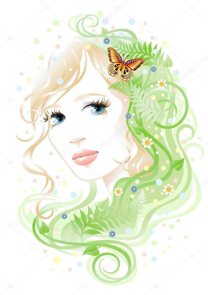 Woman & flora