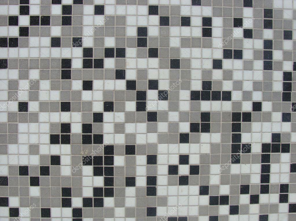 Kleine weiße grau schwarzen fliesen u stockfoto johnjohnson