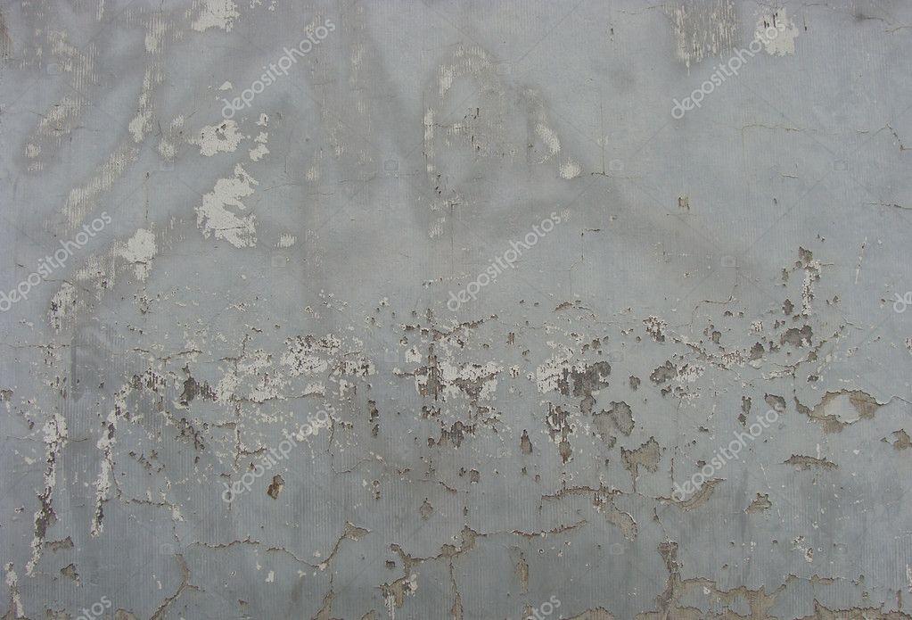 Usés Mur Peint Gris Beige Avec Puce De La Peinture Et Les Restes De