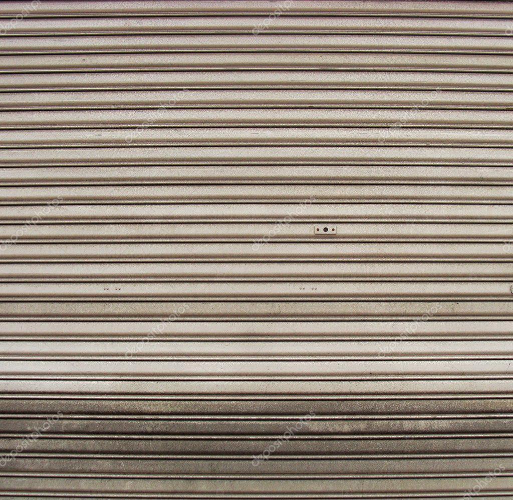 Worn Metal Garage Door Gate Store Roller Shutter U2014 Stock Photo