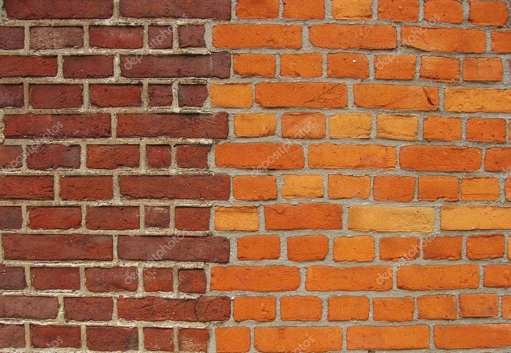 mur de briques avec deux couleurs diff rentes de briques photographie johnjohnson 3662863. Black Bedroom Furniture Sets. Home Design Ideas