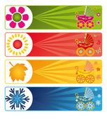 Fotografie Baby banners, vector